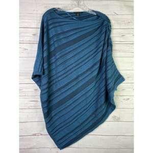 Lane Bryant Sweater Poncho Style Ribbed Turquoise